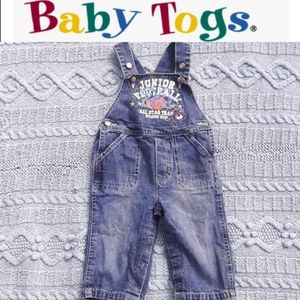 size 12M baby boys overall baby togs jeans